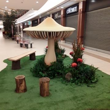 herfst paddenstoel wasc